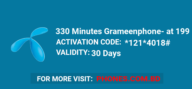 330 Minutes Grameenphone at 199 BDT