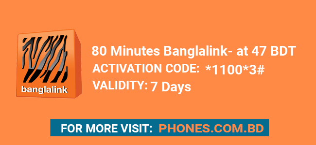 80 Minutes Banglalink at 47 BDT
