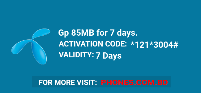 Gp 85MB for 7 days.