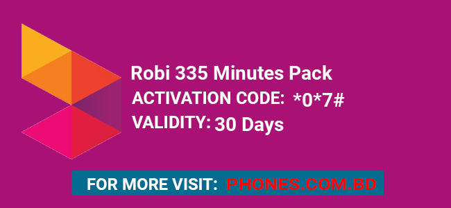 Robi 335 Minutes Pack